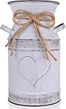 "HIDERLYS 7.5"" High Decorative Vase with Unique Heart-Shaped and Rope Design,.."