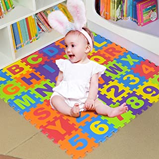 Foam Play Mats for Toddlers ABC Floor Puzzle Non Toxic 36 Tiles 3-6 Years Kids