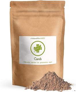 Bio Carob Pulver - 250 g - Superfood - leckere Kakao-Alternative - 100% vegan und rein - ideal als Zutat in Smoothies oder Desserts - glutenfrei, laktosefrei - OHNE Hilfs- u. Zusatzstoffe
