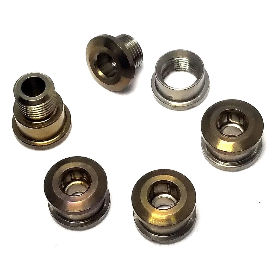 回復トレード配偶者SEVEN DIALS BROMPTON ブロンプトン用 チタン製 チェーンリング ボルト 超軽量 約13.5g(5個)