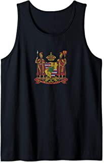 Hawaii Monarchy Coat of Arms - Vintage Distressed Tank Top