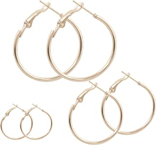 Touchstone Classic Hoop Earrings small large jewelry in Gold And Silver Tone For Women.