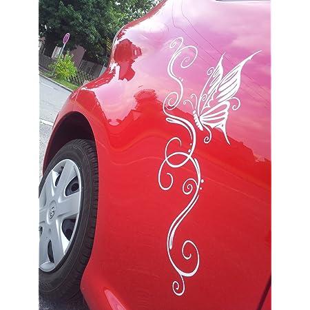 A110 14 Teiliger Butterfly Autoaufkleber Bogen 60cm X 30cm Karminrot Erh In 49 Farben Auto