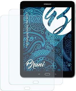 Bruni Skärmskydd är kompatibel med Samsung Galaxy Tab S3 9.7 Film, kristallklart Skyddsfilm (2X)