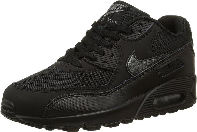 Nike Air Max 90 Mesh (GS), Scarpe da Running Ragazzo, Black/Black ...