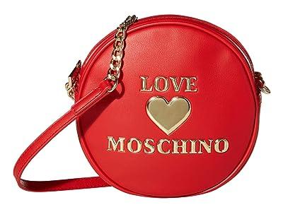 LOVE Moschino Circular Crossbody (Red) Handbags