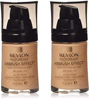 Revlon PhotoReady Airbrush Effect Makeup, Nude 2-PACK