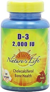 Nature's Life D-3 Softgels, Cholecalciferol, 2000 IU, 240 Count