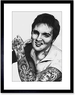 ELVIS PRESLEY TATTOO INKED IKON FRAMED ART PRINT BY W.MAGUIRE F97X12446