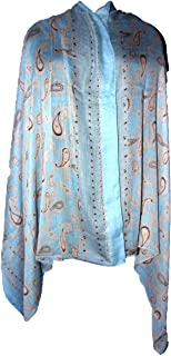 Highwaypay Women Scarves Lightweight Elegant Paisley Print Fashion Shawl Viscose Scarf