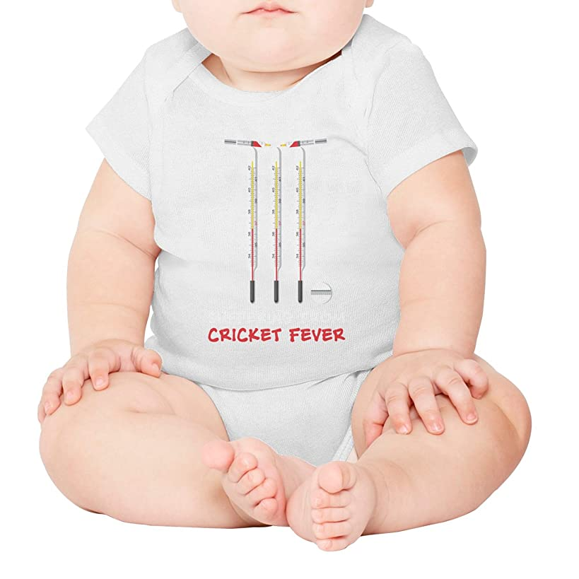 lsawdas Cricket Fever Love Unisex Baby Cotton Short Sleeve Cute Baby Clothes Baby Onesies