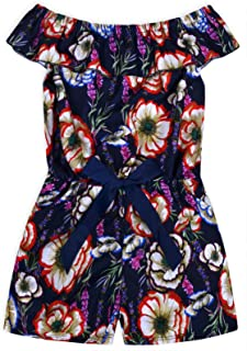 JollyRascals Girls Spot Playsuit Kids New Summer Party Sleeveless Jumpsuit Holiday Outfit Black Red Polka Dot Jumpsuit Age 2 3 4 5 6 7 8 9 10 11 12 13 14 Years