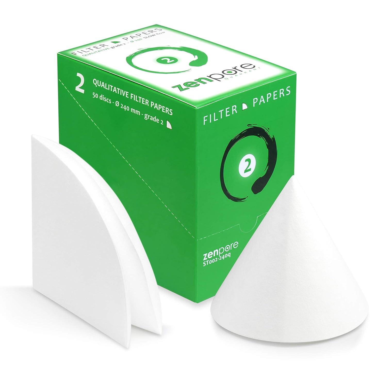 Arlington Mall 24 cm Denver Mall Quadrant-Folded Filter Paper Qualitativ disks Pre-Folded