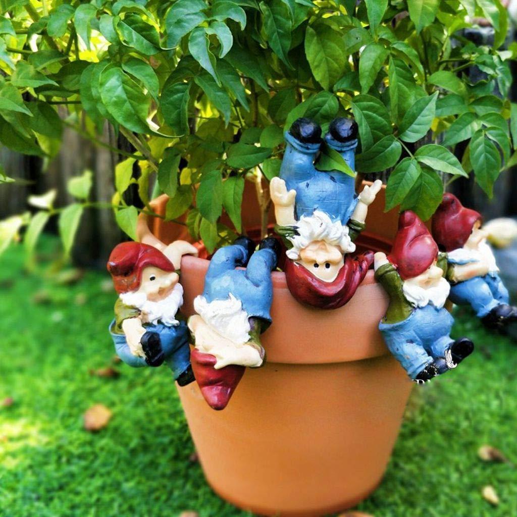 DoMyfit - Estatua de gnomo de Resina Impermeable para Colgar en el jardín, decoración de jardín o como Regalo para niños: Amazon.es: Jardín