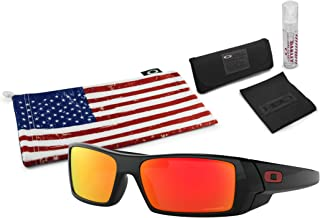 Oakley Gascan Sunglasses with Lens Cleaning Kit and Country Flag Microbag