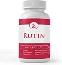 Rutin, 100 Capsules, 350 mg Serving, No Stearate or Rice Filler, Potent, Natural Source Bioflavonoid, Gluten-Free, Non-GMO...