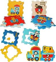 Buchstaben ABC // Alphabet /& Spielstra/ße Set /_ Puzzle Teppich aus Moosgummi 2 SEITIG 8 Matten aus Schaumstoff zum Puzzeln // Puzzleteppich EV.. alles-meine.de GmbH 8 TLG