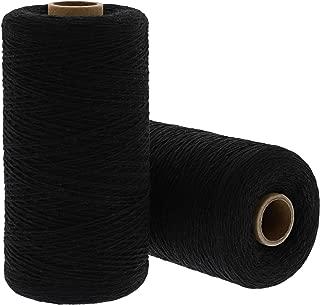 Bright Creations Loom Weaving Warp Thread (2 Rolls), 1600 Yards, Black