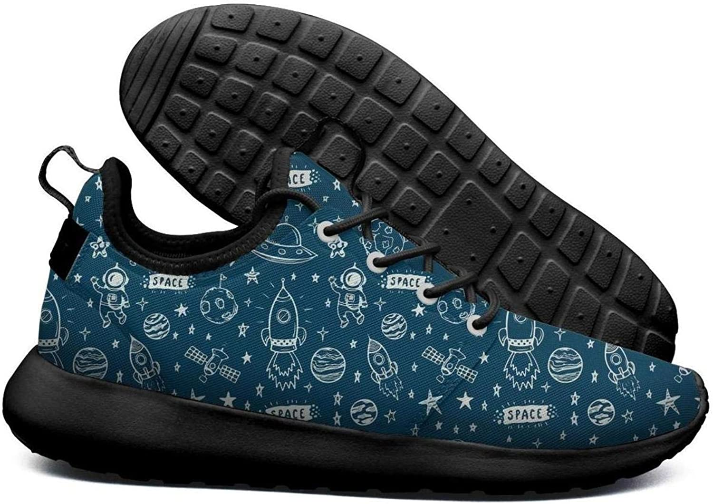 Wuixkas Astronaut Star Planet Women's Lightweight Mesh Sneakers shoes Casual Running shoes