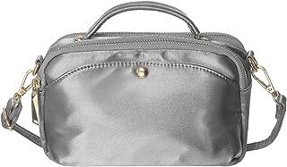 Haytijoe Small Silk Nylon Crossbody Purse Bag Multi-Pocket Shoulder Handbag Travel Slim Wallet for Women