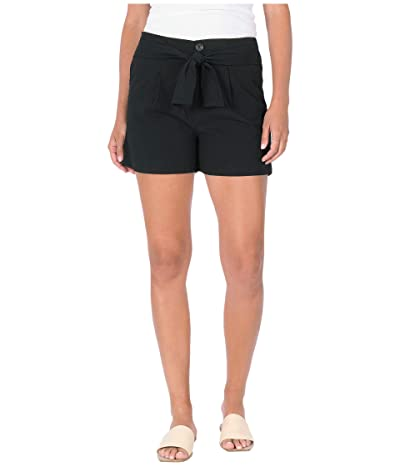 KUT from the Kloth Linda-Belted Wide Leg Shorts with Slash Pockets in Black (Black) Women