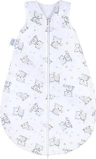 Julius Zöllner Baby Sommerschlafsack aus 100% Baumwolle, Größe 110, 24-48 Monate, Standard 100 by OEKO-TEX, made in Germany, Häschen und Eule