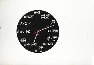DCI Pop Quiz Clock, Black and White, Metal, 11-1/2