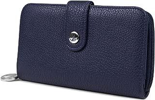 Be Shore Womens Wallet RFID Blocking Zip Around Clutch (Indigo)