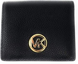 60bbec47a076 Michael Kors Fulton Carryall Card Case Small Wallet (Black)