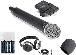 Samson Go Mic Mobile Professional Handheld Wireless System for Mobile Video + Samson SR550 Over-Ear Studio Headphones + Foam Windscreen + 4 AA Batteries & White Charger
