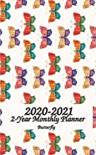 2020 - 2021 Butterfly 2-Year Monthly Planner: 5x8 Pocket / Wallet Size Planner - 24 month Planahead Calendar Planner - Simple Pretty Monthly Planner - ... Your Goals - Schedule Organizer Notebook