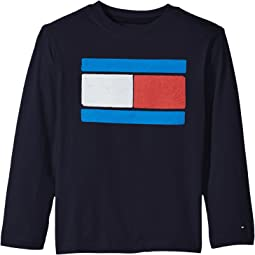 Tommy Hilfiger Kids - Tommy Flag-Bex Jersey Long Sleeve Tee (Toddler/Little Kids)