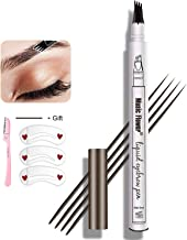 Eyebrow Tattoo Pen,Tat Brow Microblading Eyebrow Pencil Waterproof Microblade Brow Pen Make Up with a Micro-Fork Tip Appli...