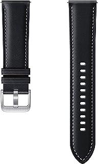 Samsung Stitch Leather Armband ET SLR84, Uhrenarmband für Galaxy Watch3 mit 22 mm Stegbreite, Echtleder Armband in Schwarz