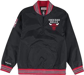 Mitchell & Ness Chicago Bulls NBA Men's Rebound 1/4 Zip Pullover Black Jacket
