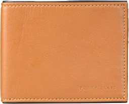 Full Grain Glazed Finish RFID Passcase Wallet