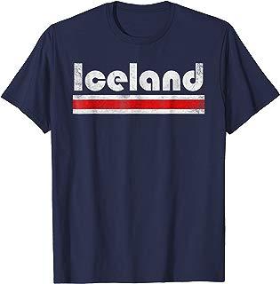 2018 Iceland Fyrir Island Fan Retro Vintage Flag T-Shirt