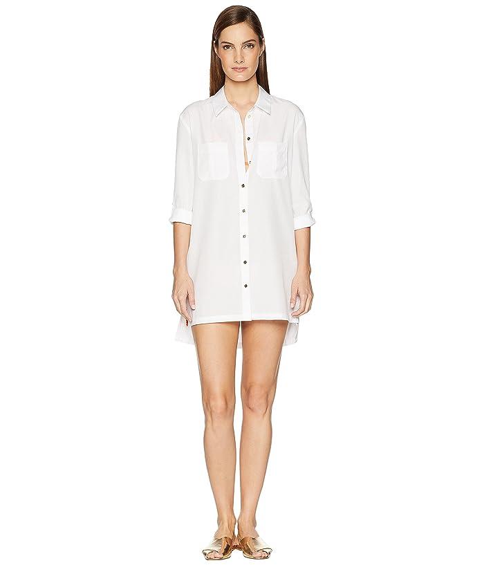 Heidi Klein Maine Oversized Shirt Cover-Up (White) Women