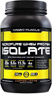 Kaged Muscle, Micropure Whey Protein Isolate, Coffee Latte, 3lbs