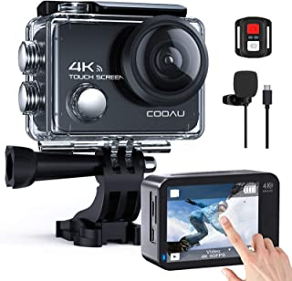 COOAU Action Cam 4K Nativo 60fps 20MP Touch Screen WiFi Sport Camera Stabilizzazione EIS Fotocamera Subacquea Impermeabile...