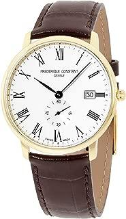 Frederique Constant Slimline Quartz Movement Silver Dial Men's Watch FC-245WR5S5