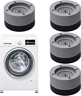 4 pièces Amortisseurs lave linge,Tapis Anti-Vibration pour Machine à laver,Pieds Anti-dérapants Lave-Linge,Tampons À Pied ...