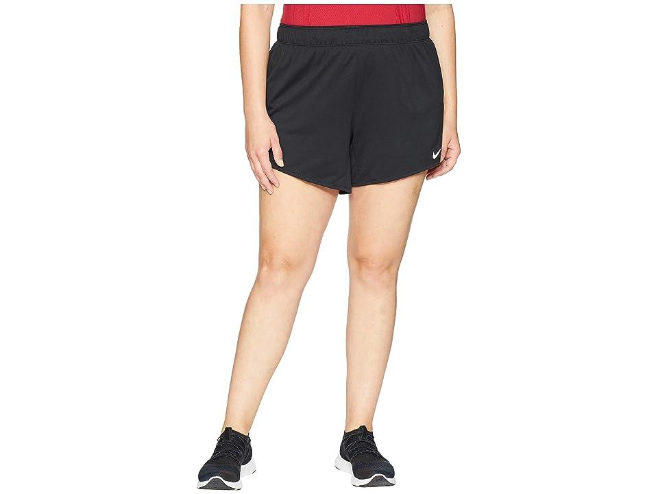 Nike Flex Attack TR5 Shorts (Size 1X-3X) (Black/White) Women