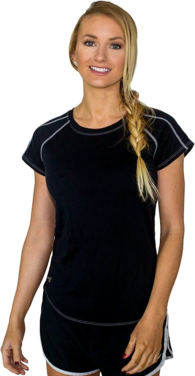 WoolX Sophie Workout Tee  Women's Gym TShirt  Ultra Soft Running Shirt
