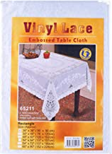"""Dolphin Collection Vinyl Lace Tablecloth, 36x36"""", Square"""