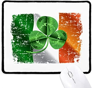 Mousepad Irlanda Clover Bandeira Nacional Verde Borda Costurada Tapete Borracha Gaming Pad