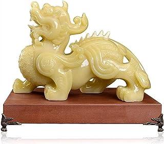 FLYAND Feng Shui Statue Feng Shui富の繁栄/Pi Yao Statueを引き付ける富と頑張って、Feng Shuiの装飾の富はラッキーな置物