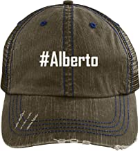 #Alberto - A Nice Adjustable Embroidered Hashtag Dad Hat Cap
