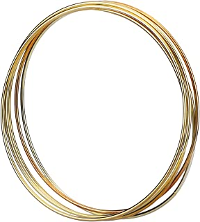 Metal Rings Hoops Macrame Rings for Dream Catcher and Crafts (5 Pieces Gold, 6 Inch)