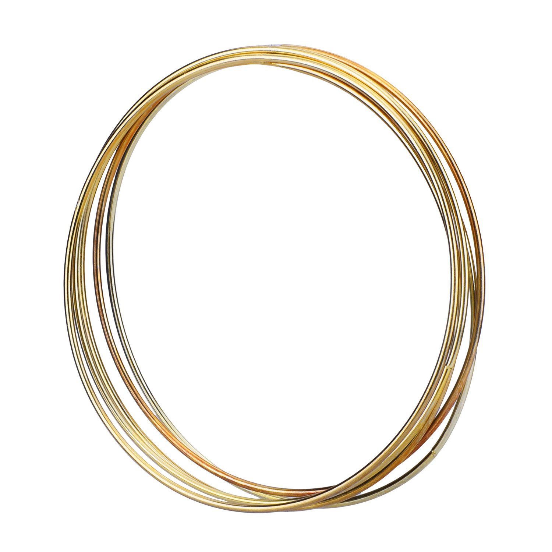 Craft County 10 Piece Set of Silver Dreamcatcher Metal Hoop Rings 2-Inch or 3-Inch Diameters